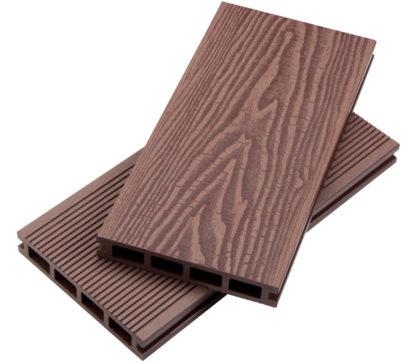 Place 3d trä/rillad brun