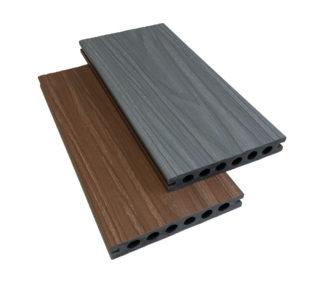 tvåfärgad komposittrall ljusgrå redwood