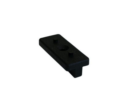 svart plastclips