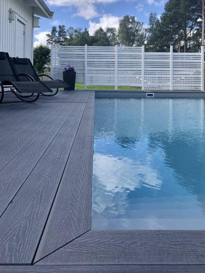 komposittrall grå poolområde