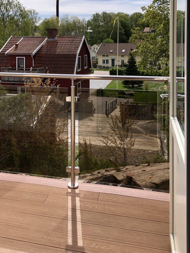 balkong komposittrall teak