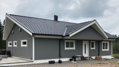 hustak svart tegel