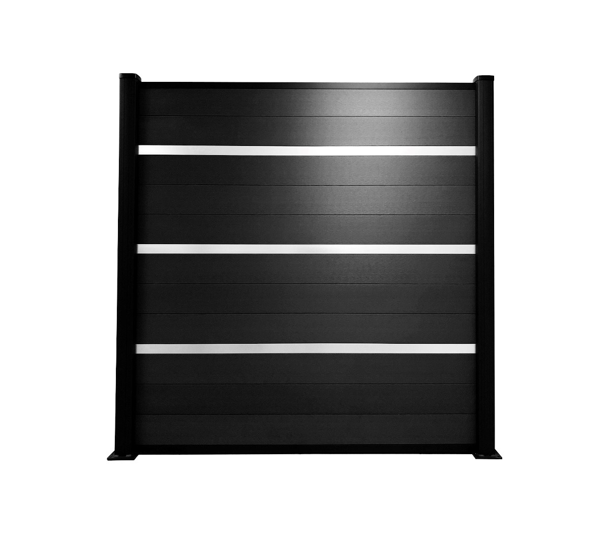 svart plank i komposit