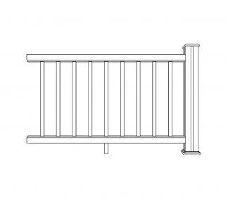 ritning delsektion staket