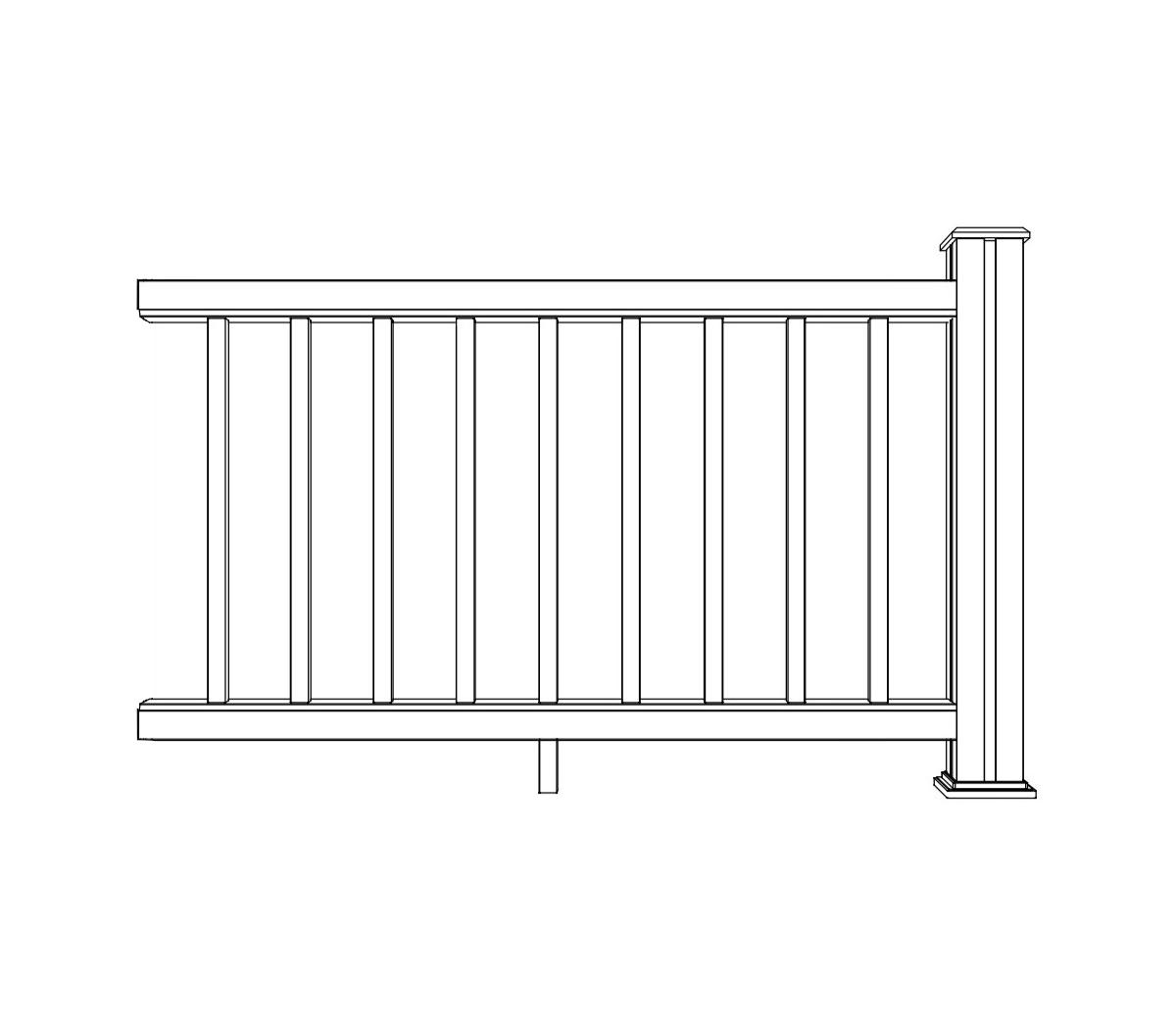 ritning på delsektion till staket